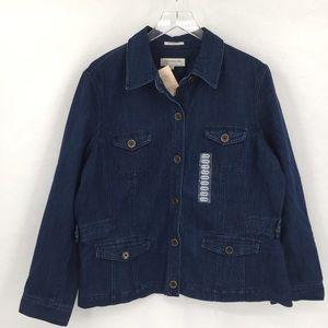 Jones New York Sport denim jacket stretch new XXL